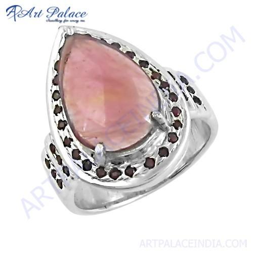 Imperial Ruby Gemstone Silver Ring