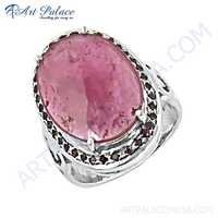 Unique Beautiful Ruby Gemstone Silver Ring