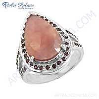 Hot! Dazzling Ruby Gemstone Silver Ring
