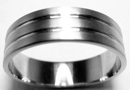 Platinum Plain Ring