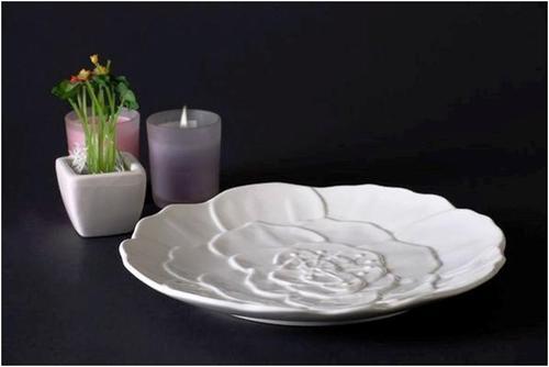 Ceramic Dessert white plate