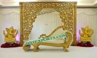 HINDU WEDDING GOLD STAGE SET