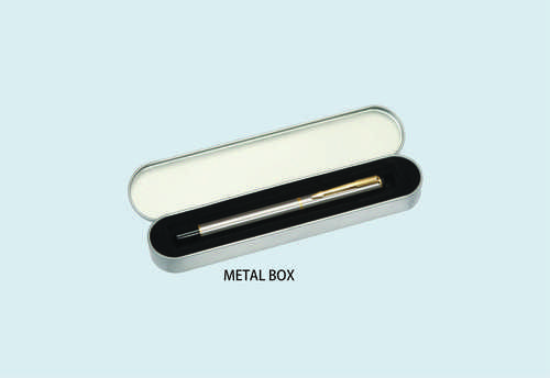 Metal Pen with Metal Box