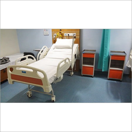 Electric ICU Bed With Bedside Locker