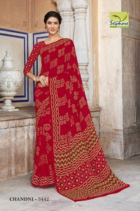 Floral Printed Fancy Sarees