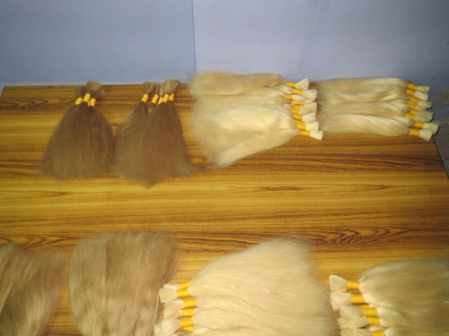 Bleached Shades Remy Single Drawn Bulk Hair