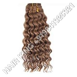 Deep Wavy Machine Weft Hair