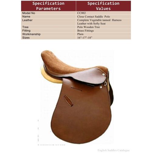 Brown Horse Saddles