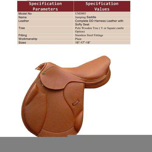 Designer Leather Saddles