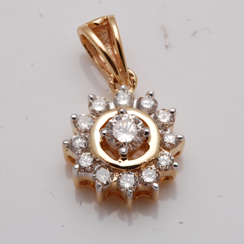 Diamond jewelry manufacturer, real diamond jewelry supplier, yellow gold diamond pendants wholesale