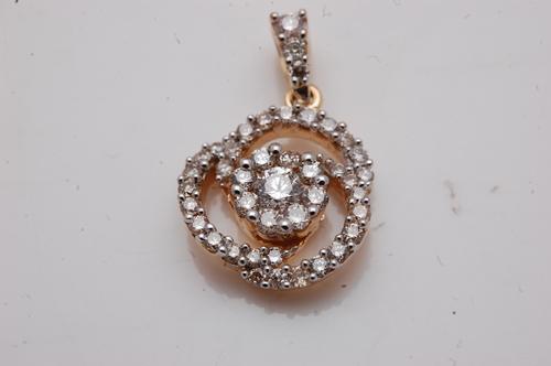spiral diamond pendant design,designer pendant inn diamond and gold for girls
