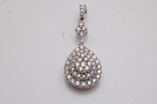 wholesale diamond jewelry from india at reasonable prices, three layer diamond pear shaped