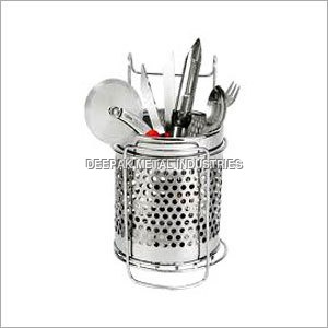 Stainless Steel Perforated Cutlery Holder