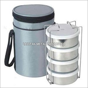 4 Container Tiffin with Pouch