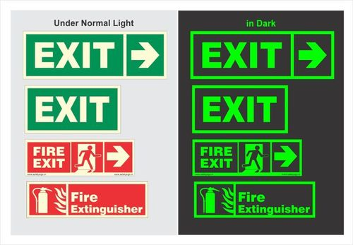 Glow in Dark Safety Signs