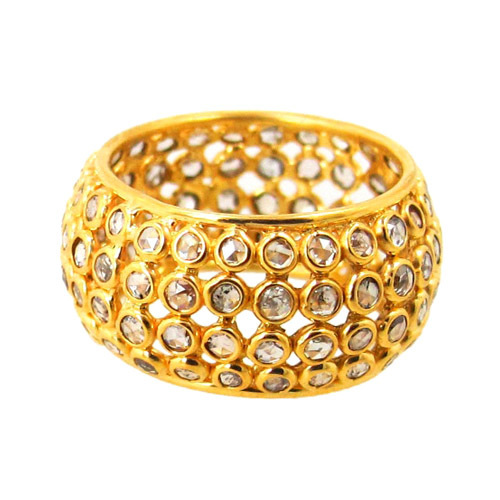 Polki Diamond Gold Ring