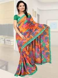 Printed Polyester Saree