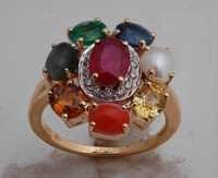 9 precious stones ring jewelry, nakshatra gold ring for well being
