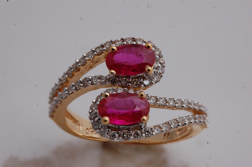 diamond and ruby latest ring design, party wear delicate jewelry design india