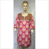 100 %  cotton  printed  kurtis