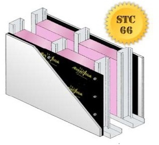 Sound Proof Partition Wall STC-66