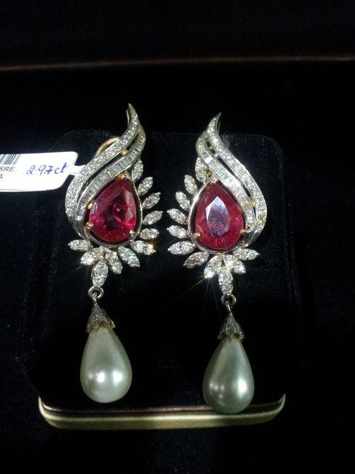 Trendy Diamond Earrings