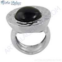 Newest Style Black Onyx Gemstone Silver Ring, 925 Sterling Silver Jewelry