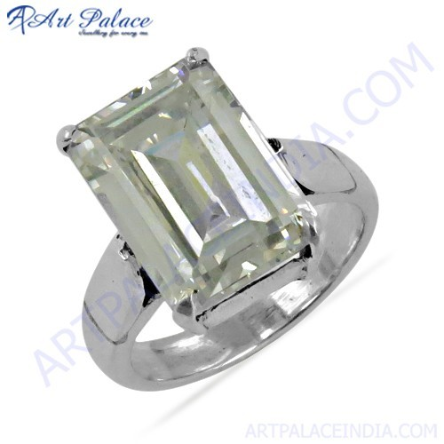 Classy Cubic Zirconia Silver Ring