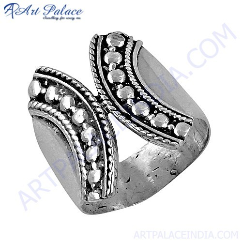 Latest Indian Ethnic Designer Plain Silver Ring, 925 Sterling Silver Jewelry