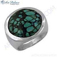 Fashion Accessories Turquoise Gemstone Silver Ring