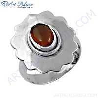 Ultimate Stylish Carnelian Gemstone Silver Ring
