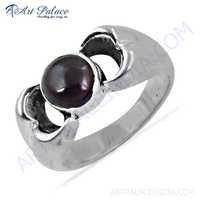 High Quality Garnet Gemstone Silver Ring