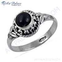 Glamours Ethnic Designer Black Onyx Gemstone Silver Ring