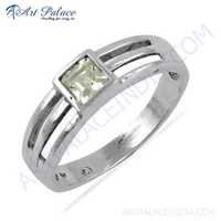 Indian Touch Cubic Zirconia Gemstone Silver Ring