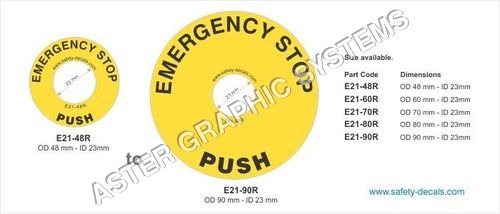 Emergency Stop Decals