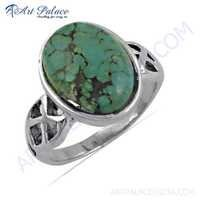 Handcrafted Turquoise Gemstone Silver Ring
