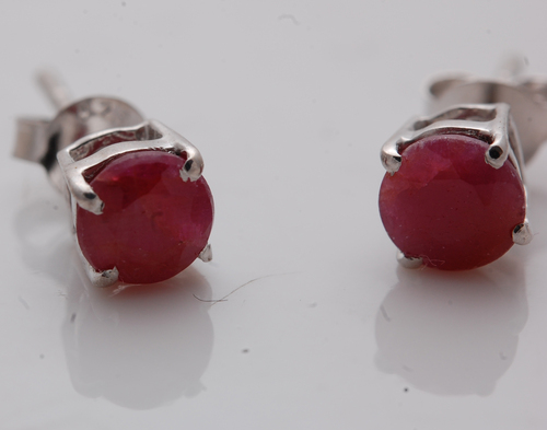 silver tops with ruby gemstone for girls, unisex silver earrings wholesale