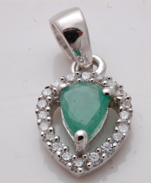 emerald silver jewelry, wholesale silver precious gemstone jewelry supplier
