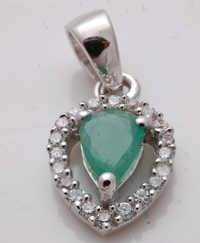 emerald silver jewelry, wholesale silver precious gemstone jewelry supplier