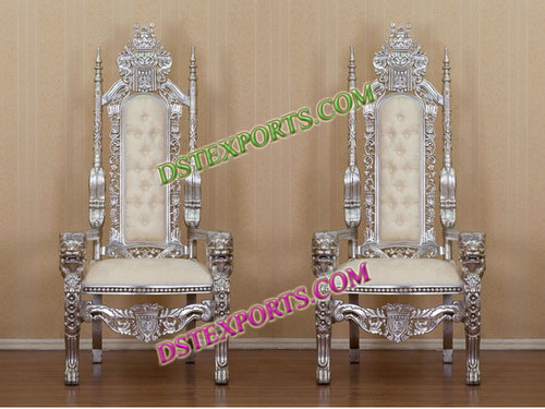 WEDDING SILVER MAHARAJA CHAIRS