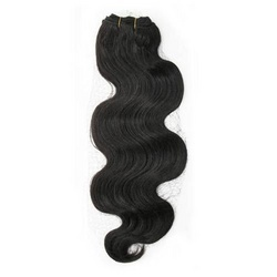 Natural Black Remy Body Wavy Machine Weft Hair