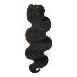 Natural Black Remy Body Wavy Machine Weft Hair