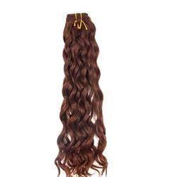 Natural Brown Remy Jackson Wavy Machine Weft Hair