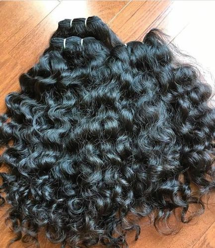 100% VIRGIN INDIAN HUMAN THICK CURLY HAIR