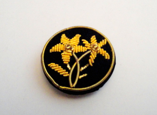 Indian Zari Work Embroidered Apparel Buttons