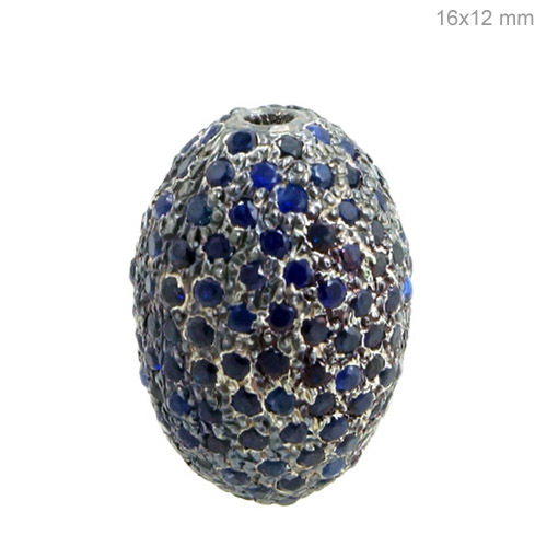 Blue Sapphire Silver Finding Jewelry