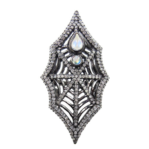 Spider Web Diamond Pave Ring