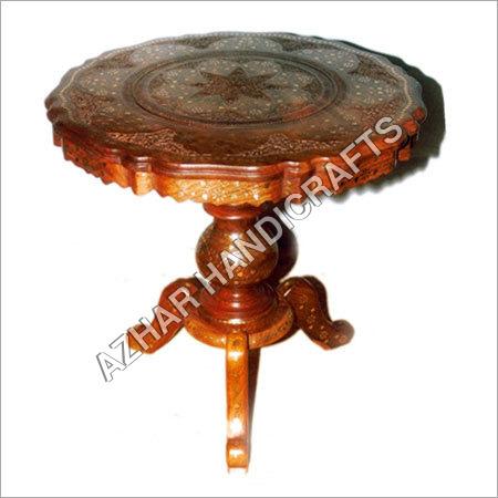 Wooden Handicraft Table Azhar Handicrafts Indira Chowk Mansoor