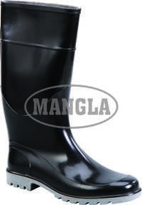 Grey And Black Gum Boot