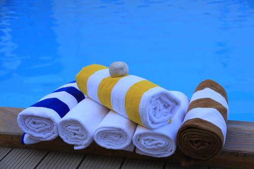 Pool Towel - Blue Stripes